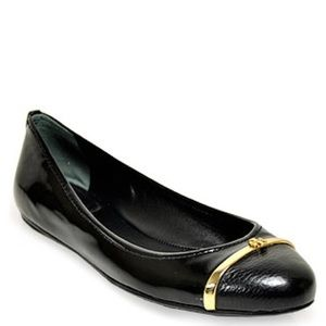 TORY BURCH Pacey Black Patent LEATHER Ballet FLAT